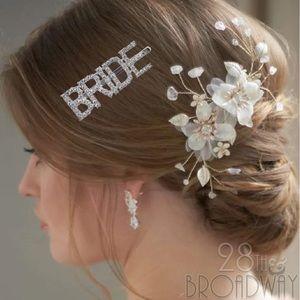 Bridal Rhinestone Hair Pin ♔Bride♔ Bride Barrette